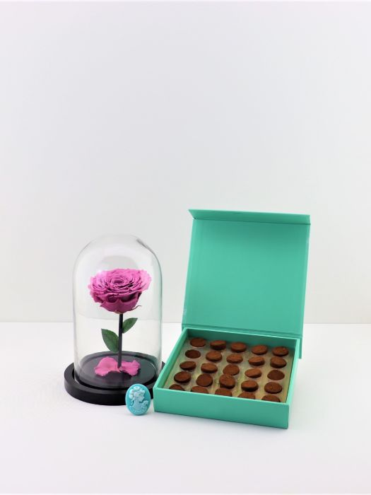 INFINITY OLD ROSE PINK AND TRUFFLES CHOCOLATE