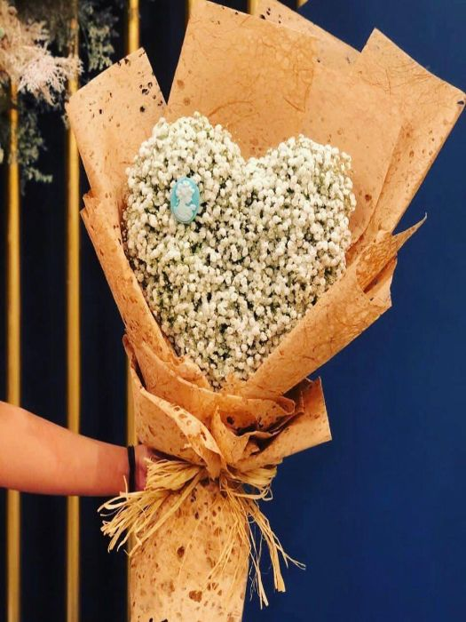 HEART SHAPE BABYS BREATH BOUQUET