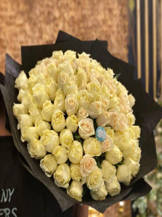 Special  Bouquet Filled With White  Roses